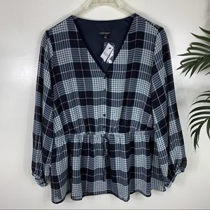 NEW Lane Bryant Plaid Top Womens Plus 20
